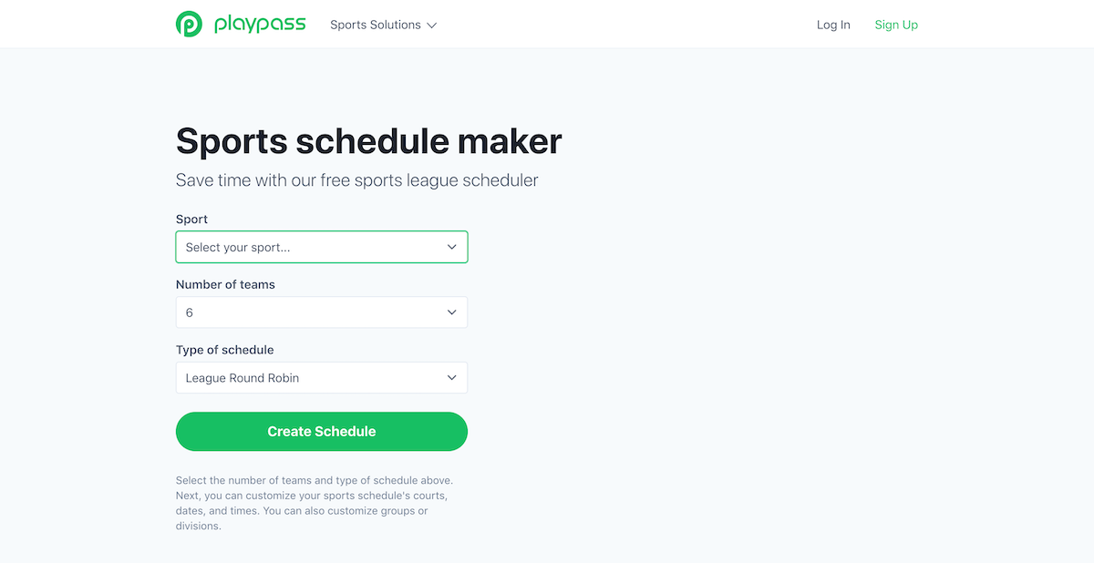 playpass schedule maker
