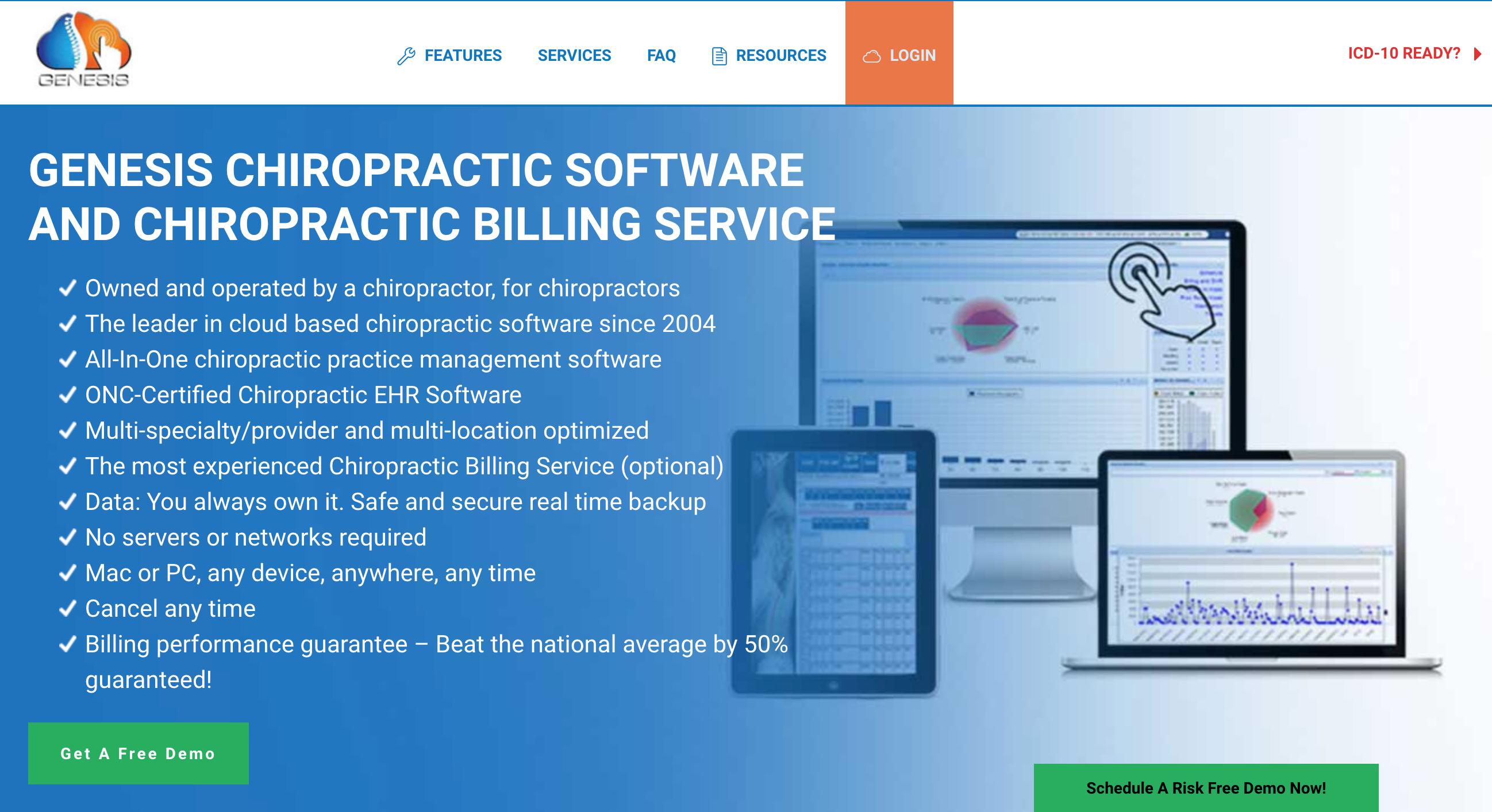 Genesis chiropractor software